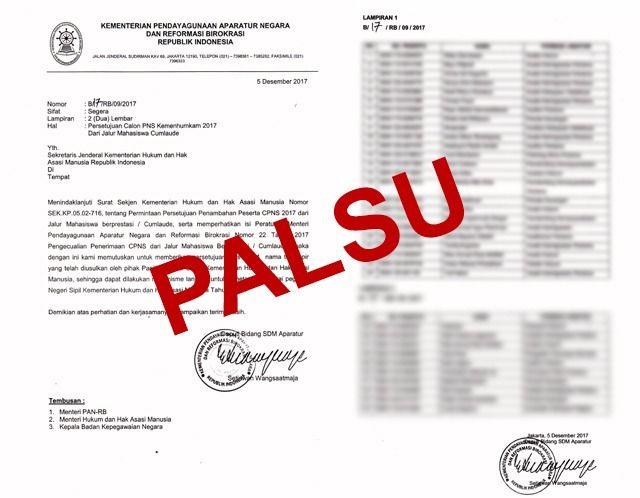 Tragis!! Ini Bentuk Surat Palsu Penerimaan CPNS