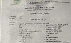 surat pengangkatan CPNS PALSU